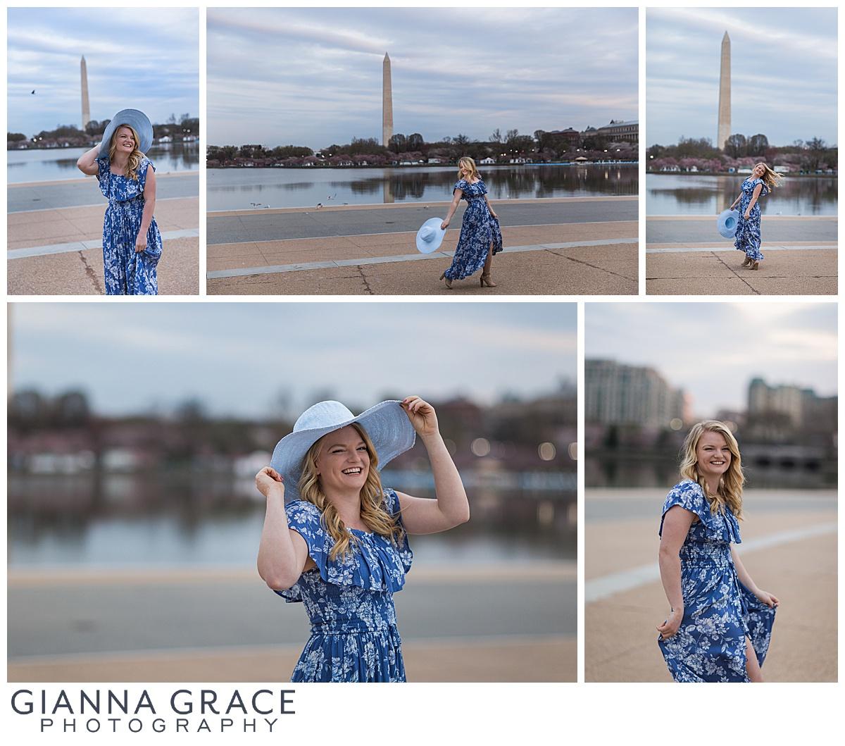 Washington DC Cherry Blossom Senior Session | Richmond VA